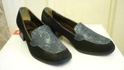 Замшевые женские туфельки 37 размер