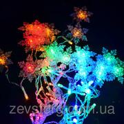Гирлянда  Светодиодная LED Бахрома со Снежинками-60