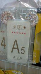 Силикон накладка стразы Микки Маус Samsung A3 A5 A510 A710 G360 J1   С
