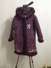 Пальто дубленка рост 116-122см